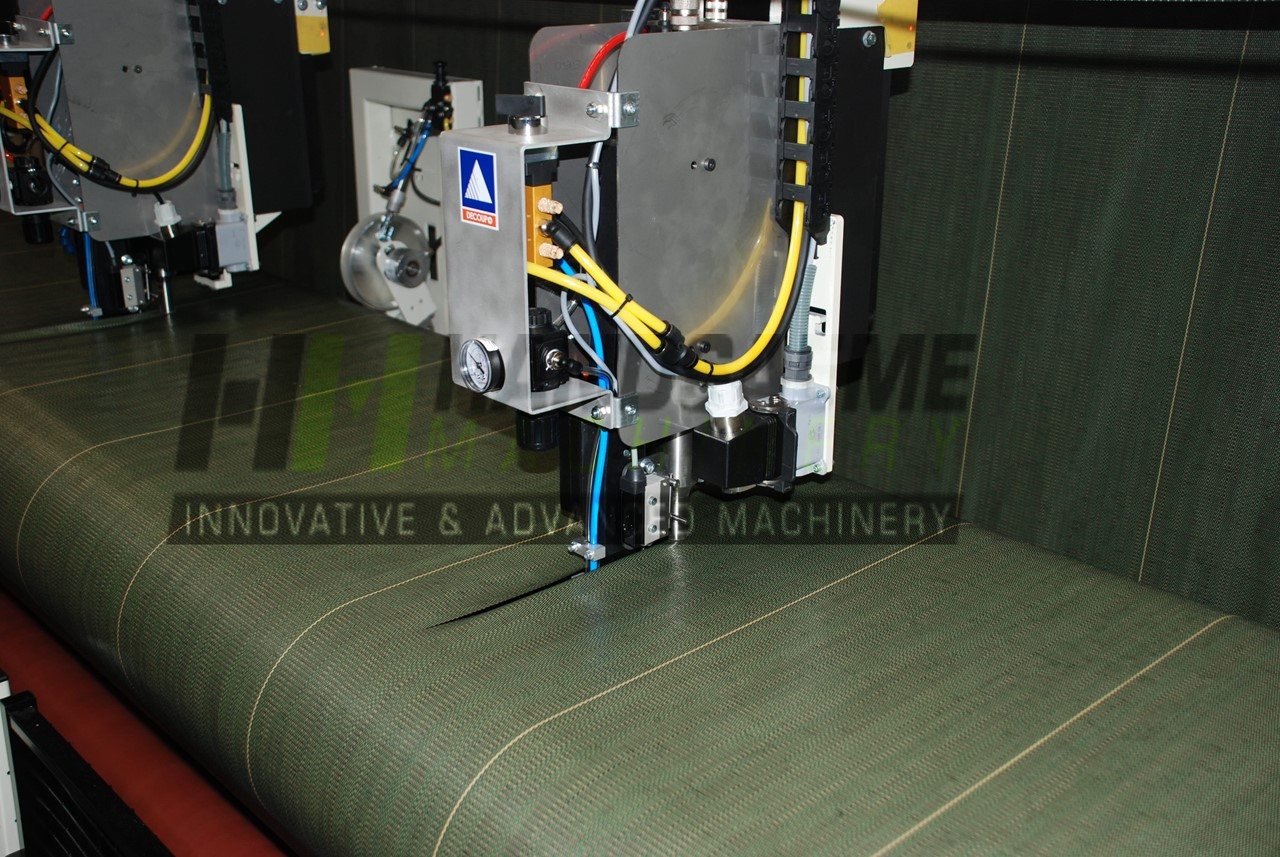 Cutting of woven agro textile