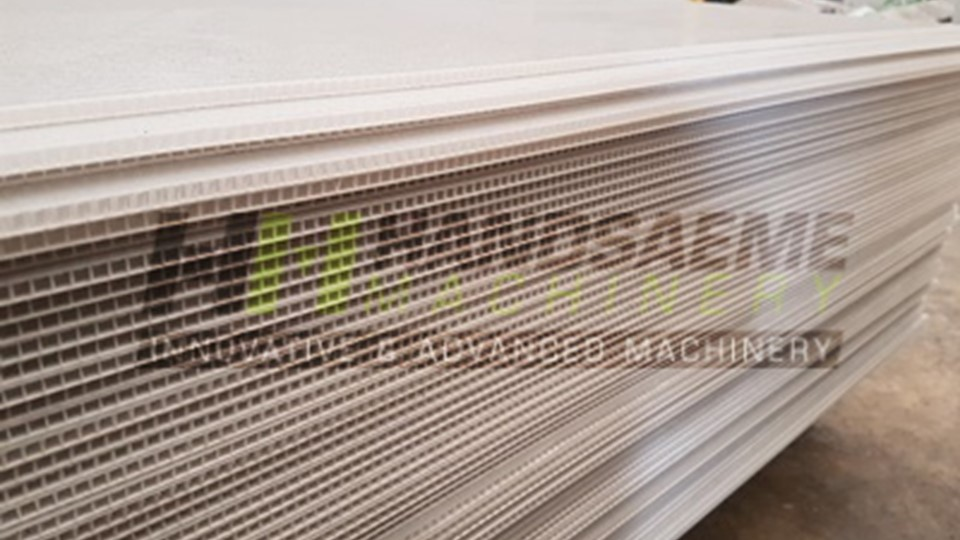 Production line for making sandwich panels*